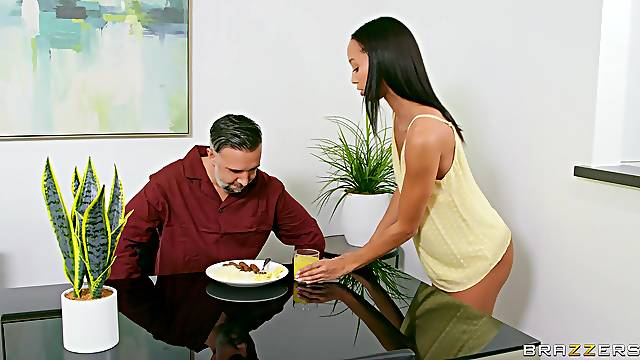Fresh girl goes full mode on her stepdad's energized penis