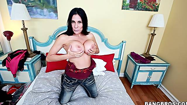 Man's BBC suits this perfect MILF with great interracial