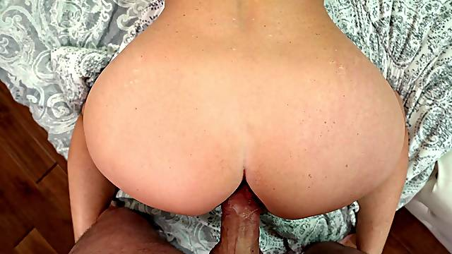 POV video with Cyndi Sinclair getting cum in mouth after anal sex
