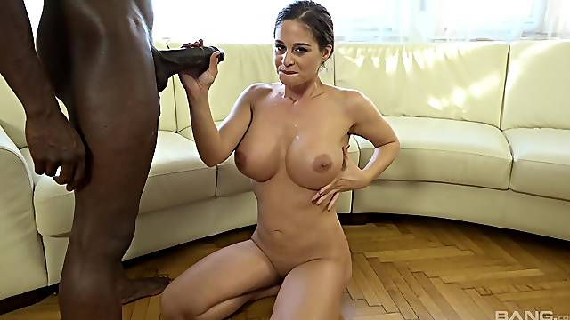 Cathy Heaven gets a bunch of black dudes to bang her hard