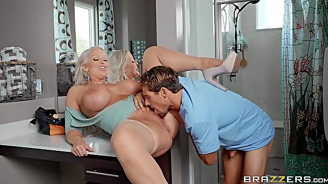 Rough anal POV play with a big booty cougar on fire