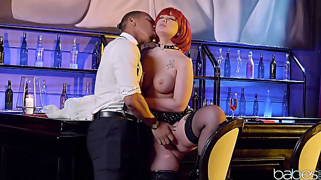 Black stud fits this redhead with the right inches