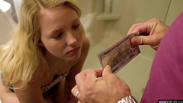 Hot teen Dixie Lynn is incentivized to do some dirty deeds