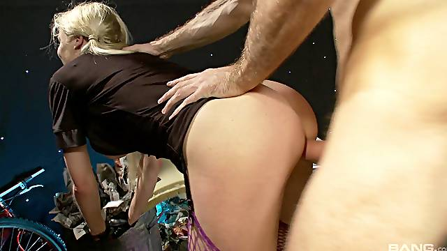 Dick riding blonde whore craves for sperm on those melons