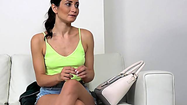 Erotic nude casting followed by good fucking for Valentina