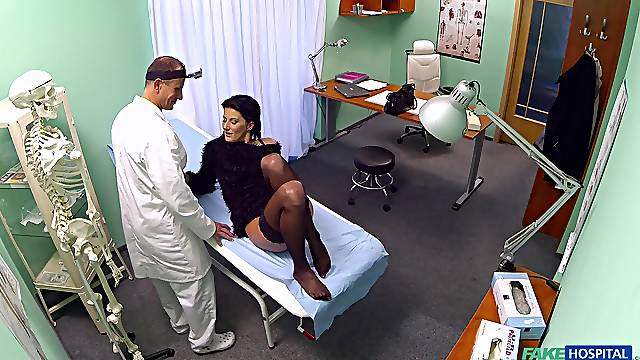 Hospital sex for a sensual woman and her doctor