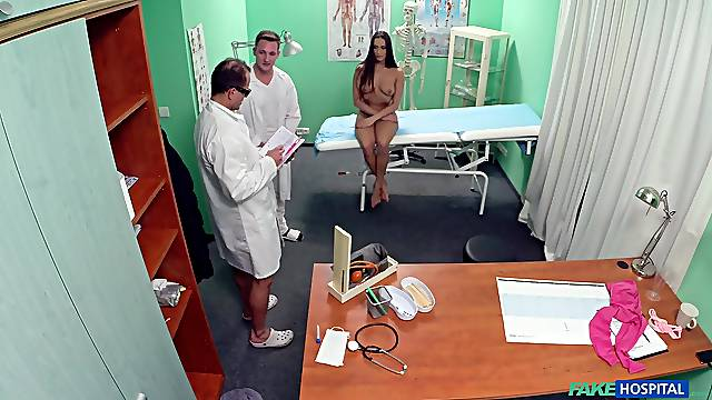 A naked medical exam leads to improper fucking for Mea Melone