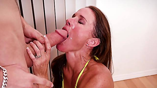 Country mom sucks and fucks youngest step son in insane modes