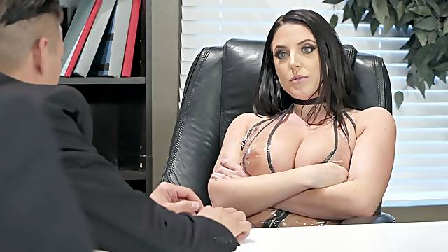 Big ass milf goes fucking like a wild whore during business meeting