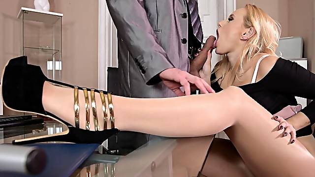Boss fucks busty secretary in crazt foot fetish hardcore