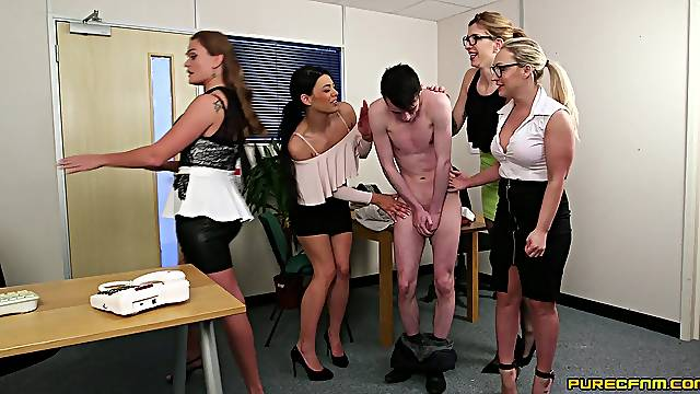 Group sex with a bunch of old women and a lucky young fuck boy