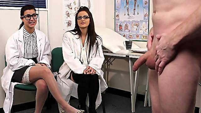 Clothed female doctors are keen for a short fetish