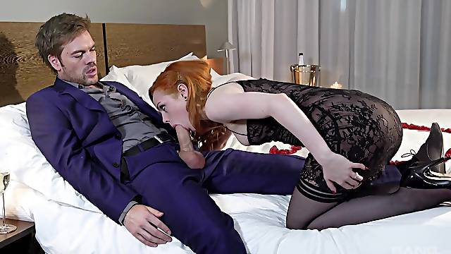 Energized redhead works magic with this heavy tool