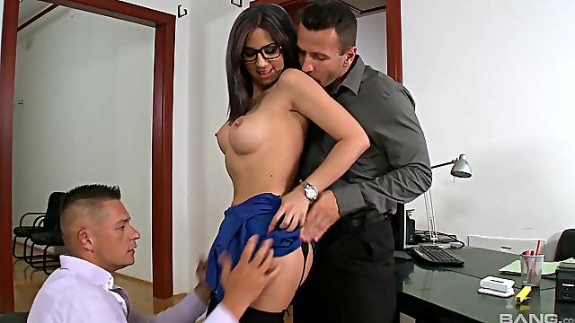 Fine moments of harsh anal at the office with the new secretary