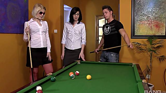Fateful billiards game and resulting FFM for Sweet Cat and Barbara Sweet