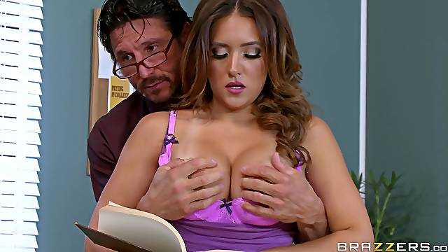 Chesty MILF Jean Michaels gets busy in a classroom setting