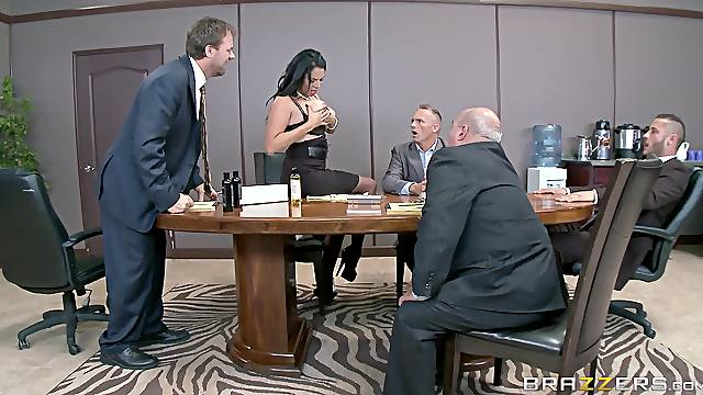 Mature rides cock at the office for as bigger raise