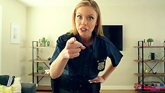 Superb blonde cop amazes with how good she can fuck