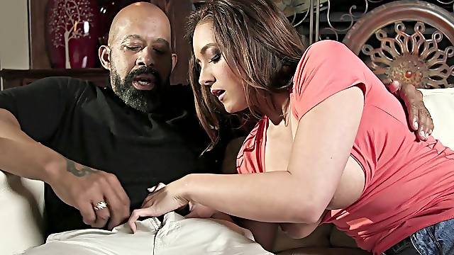 First time in her life when she soaks such a huge black dick in her cunt