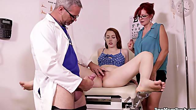 Nothing like sharing cock with her younger niece in such dirty threesome