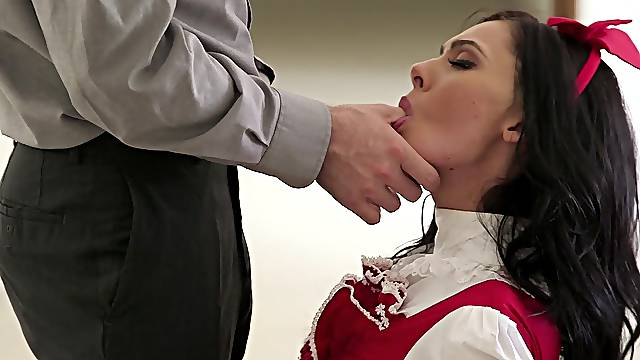 Energized maid suits her master with the nastiest pleasures