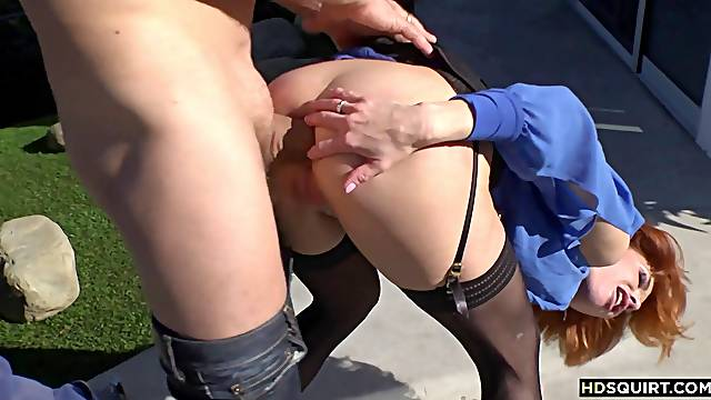 Wild MILF having many squirting orgasms on Roccos cock