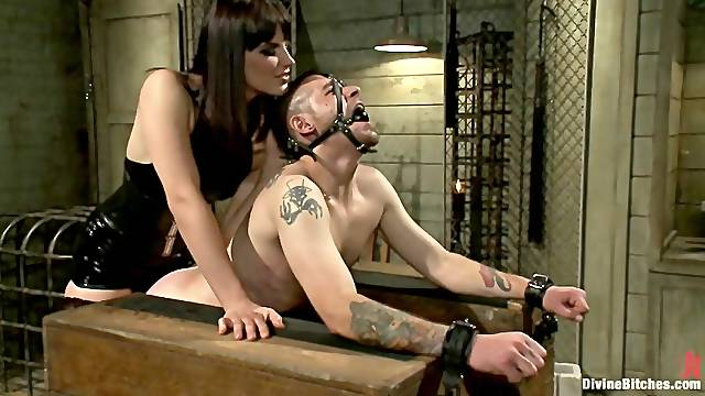 Dominant bitch uses her strap-on
