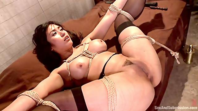 Asian babe gets dominated and assfucked