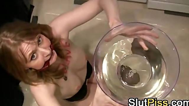 Pissing humiliation BDSM play