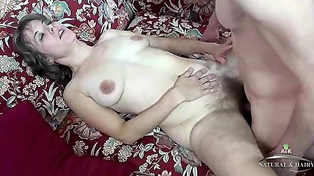 Slut with super hairy legs fucked in her hot pussy