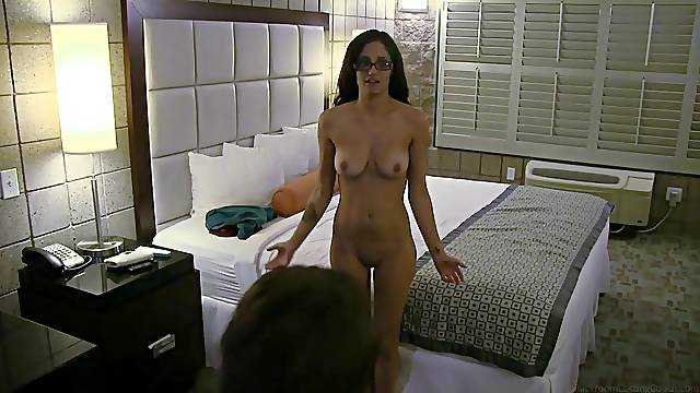 Beauty interviews and sucks dick for porn casting