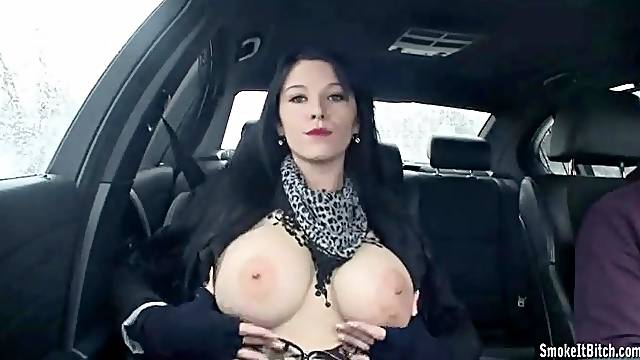 Adrianne Black smokes cigarette in car