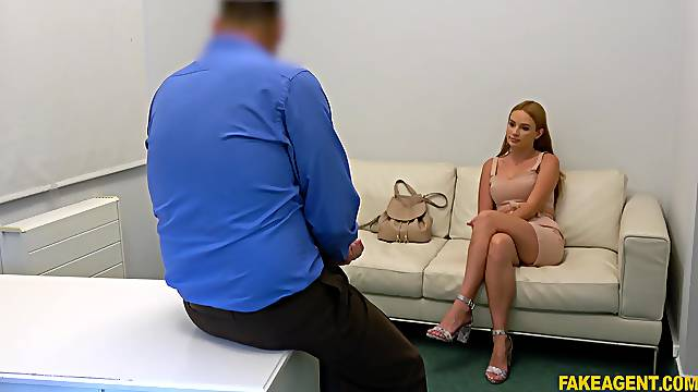 Doggy during casting leads young amateur to insane orgasms