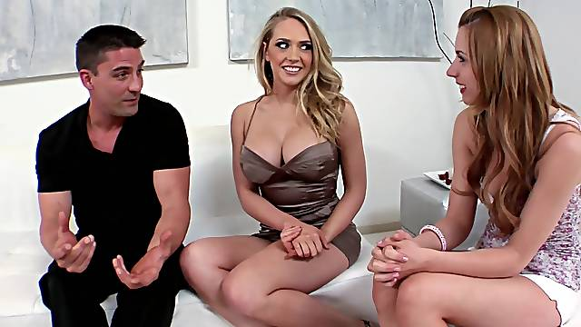 Energized women are keen to share dick on the casting couch