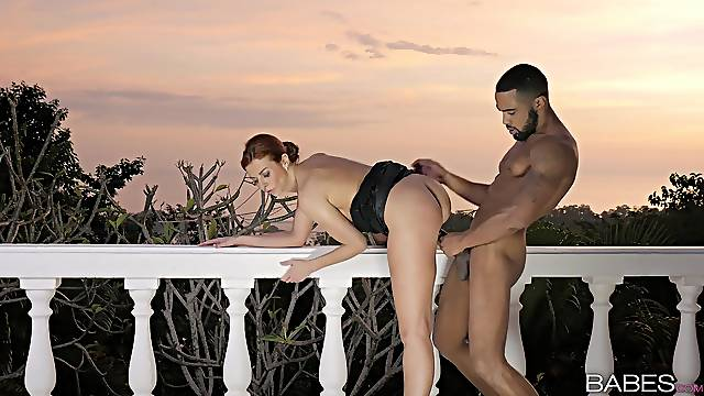 Outdoor fuck at sunset with a younger black dude