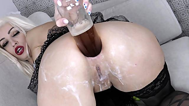 KsuColt does wild things with her ass during crazy anal solo