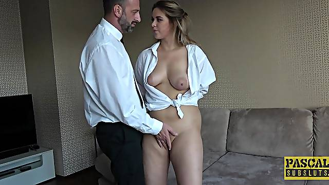 Fine blonde with big naturals, first time anal in maledom XXX
