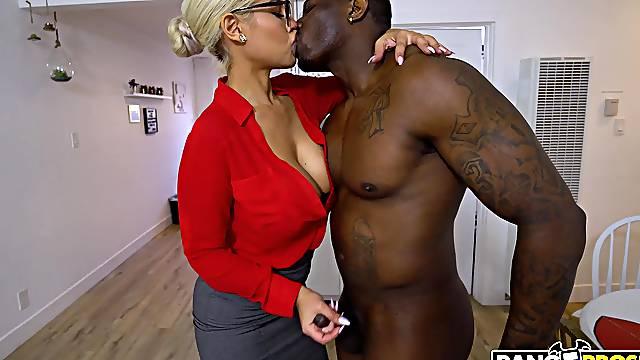 Black dude fucks busty Latina in crazy modes