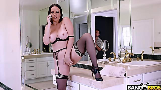 New lingerie makes wife Dana De Armond horny enough to fuck anyone