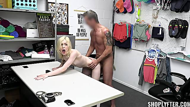 Shoplifter forced fucked for being caught