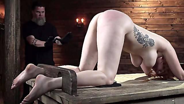 Lauren Phillips gets rough BDSM training in the sex dungeon