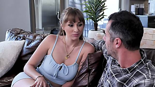 Brock Cooper fucks Olive Glass and Angel Youngs in living room