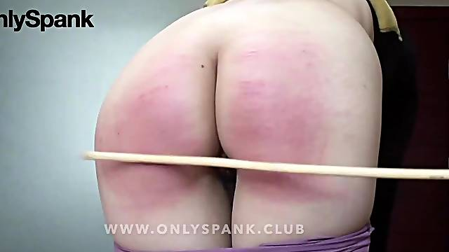 Asian chinese girl hard spanking and caning at home