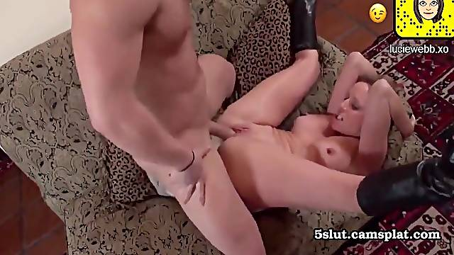 lovemaking housewife in leather boots