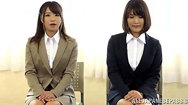 Japanese Girls Get Cumshot During Job Interview