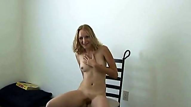 Delightful cowgirl with small tits giving her horny guy blowjob in pov shoot