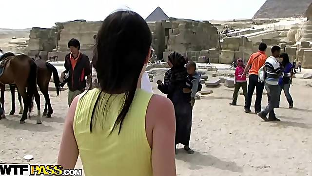 Honeymoon Babe Bangs in Egypt
