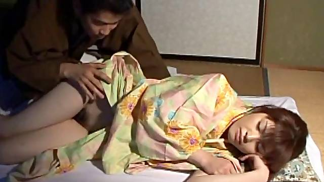 A passionate Asian couple stay in bed and fucks their brains out
