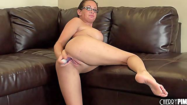 She's a busty nerd who just adores the kinky masturbation sessions