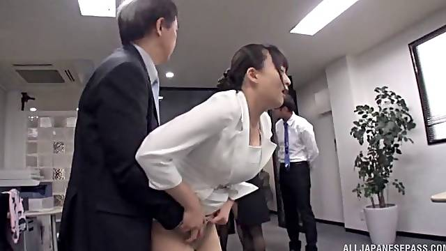 Japanese office workers are here to do some passionate dong sucking